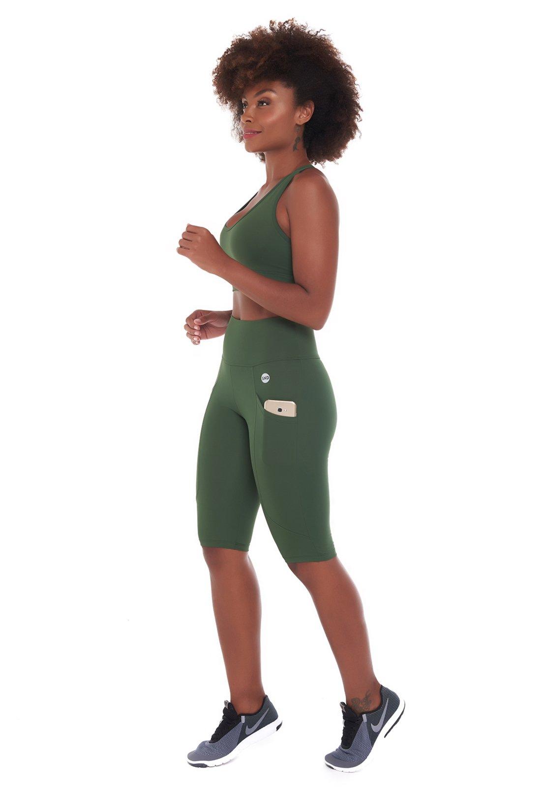 Conjunto Sandy Fitness Life Intensity Military - Compre Agora