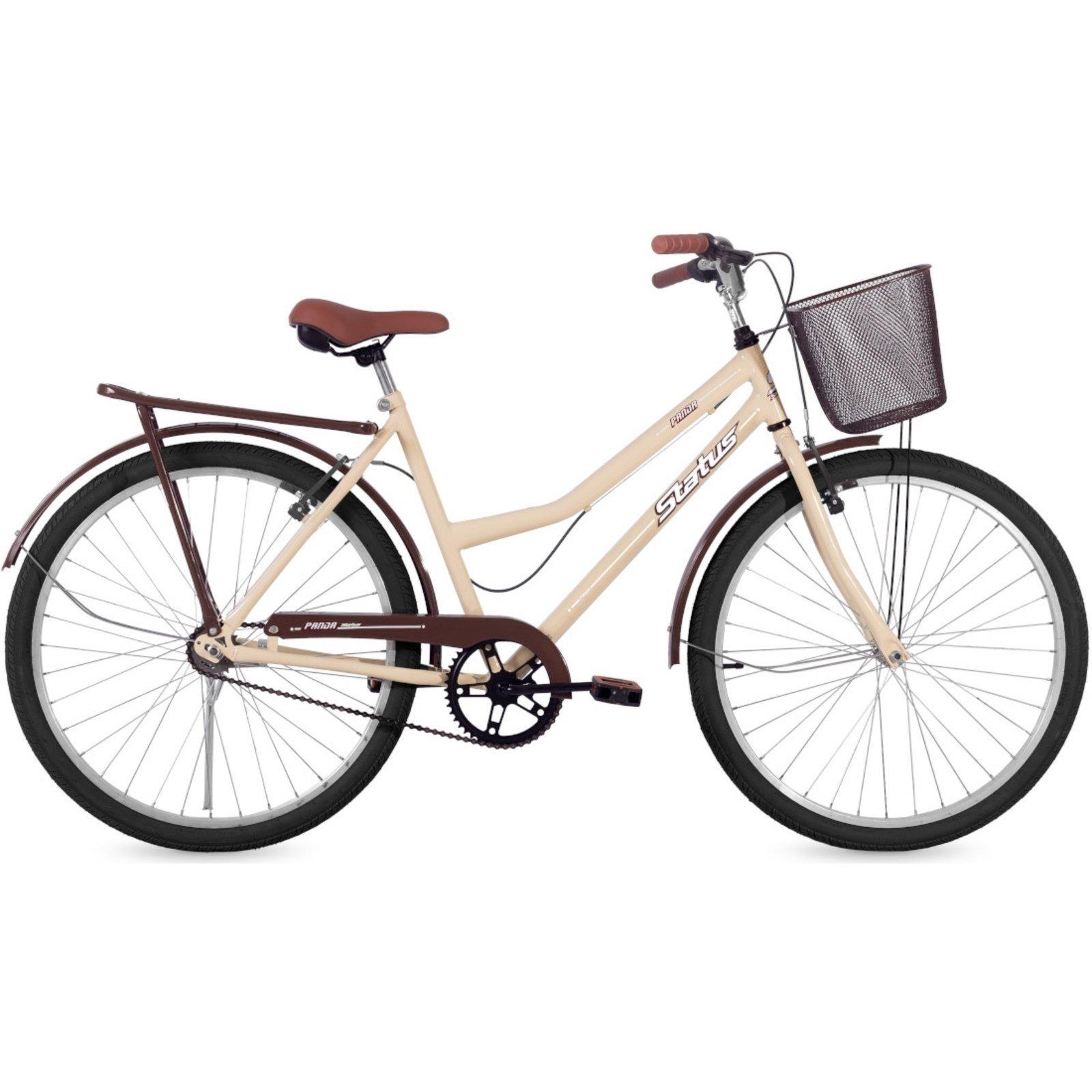 Bicicleta Mobele Bikes Vintage Retrô Aro 26 Rígida 1 Marcha - Bege
