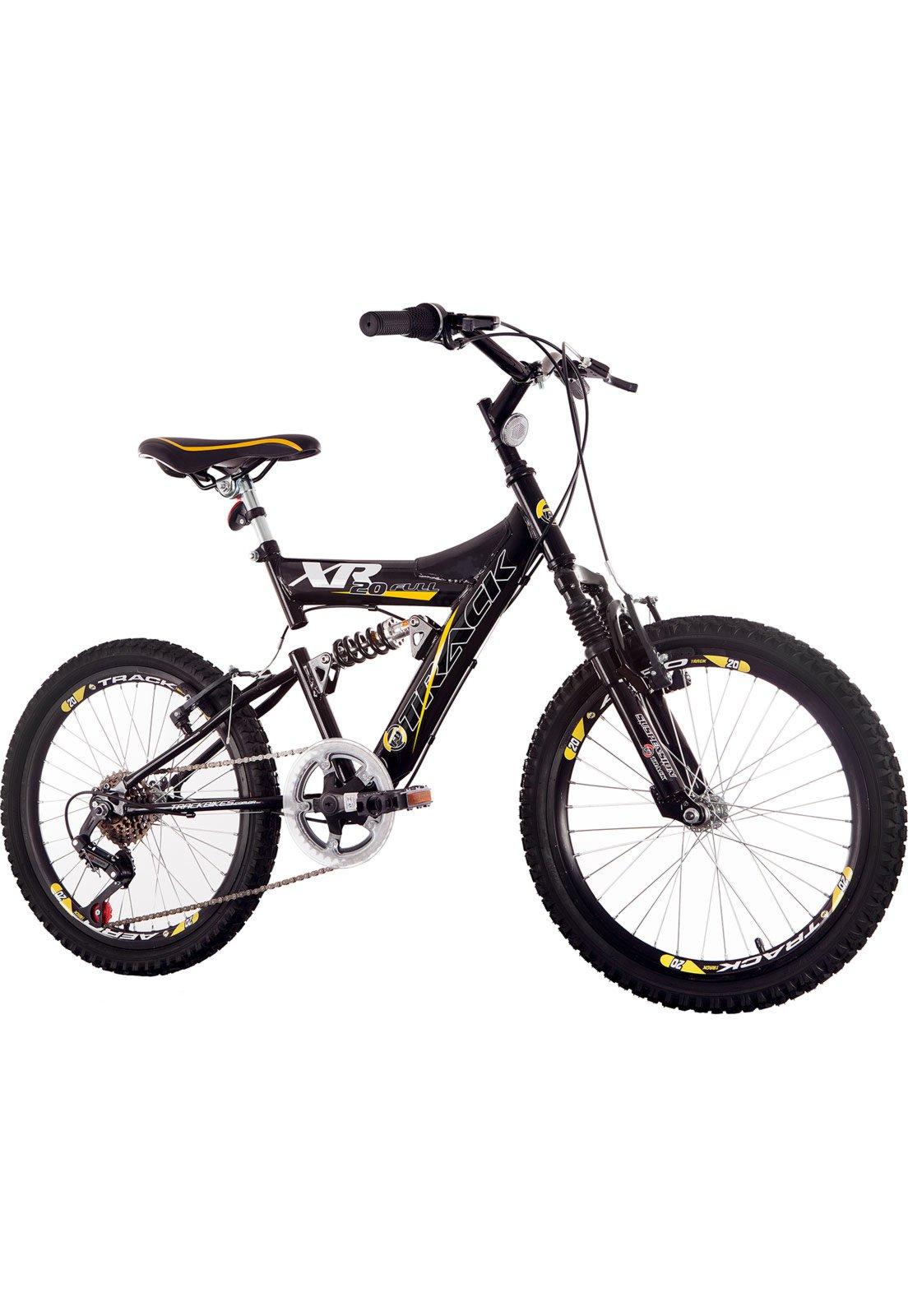 Bicicleta Track&bikes Xr20 Aro 20 Full Suspensão 6 Marchas - Preto