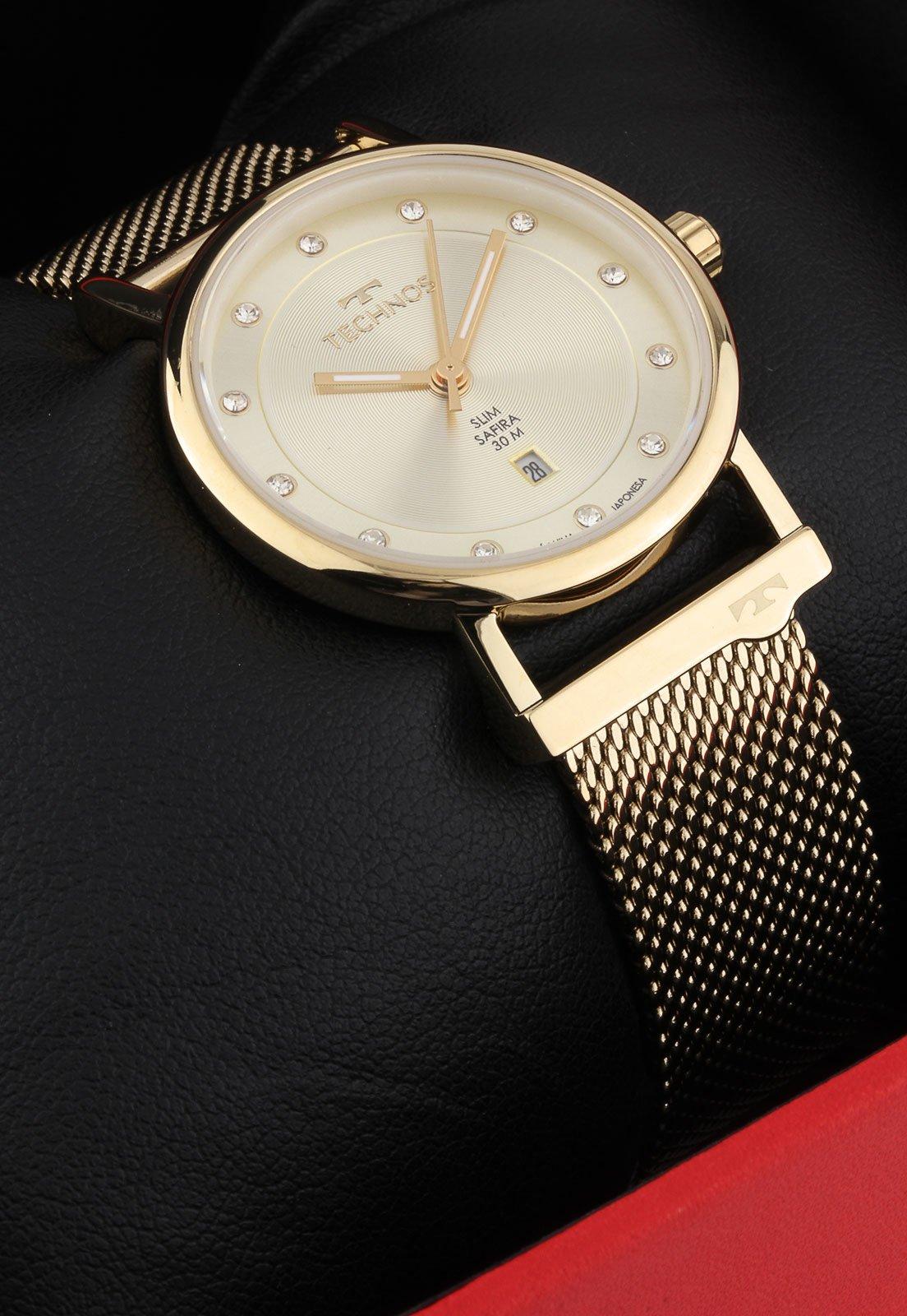 Relógio Technos 9T13AB/4X Dourado - Marca Technos