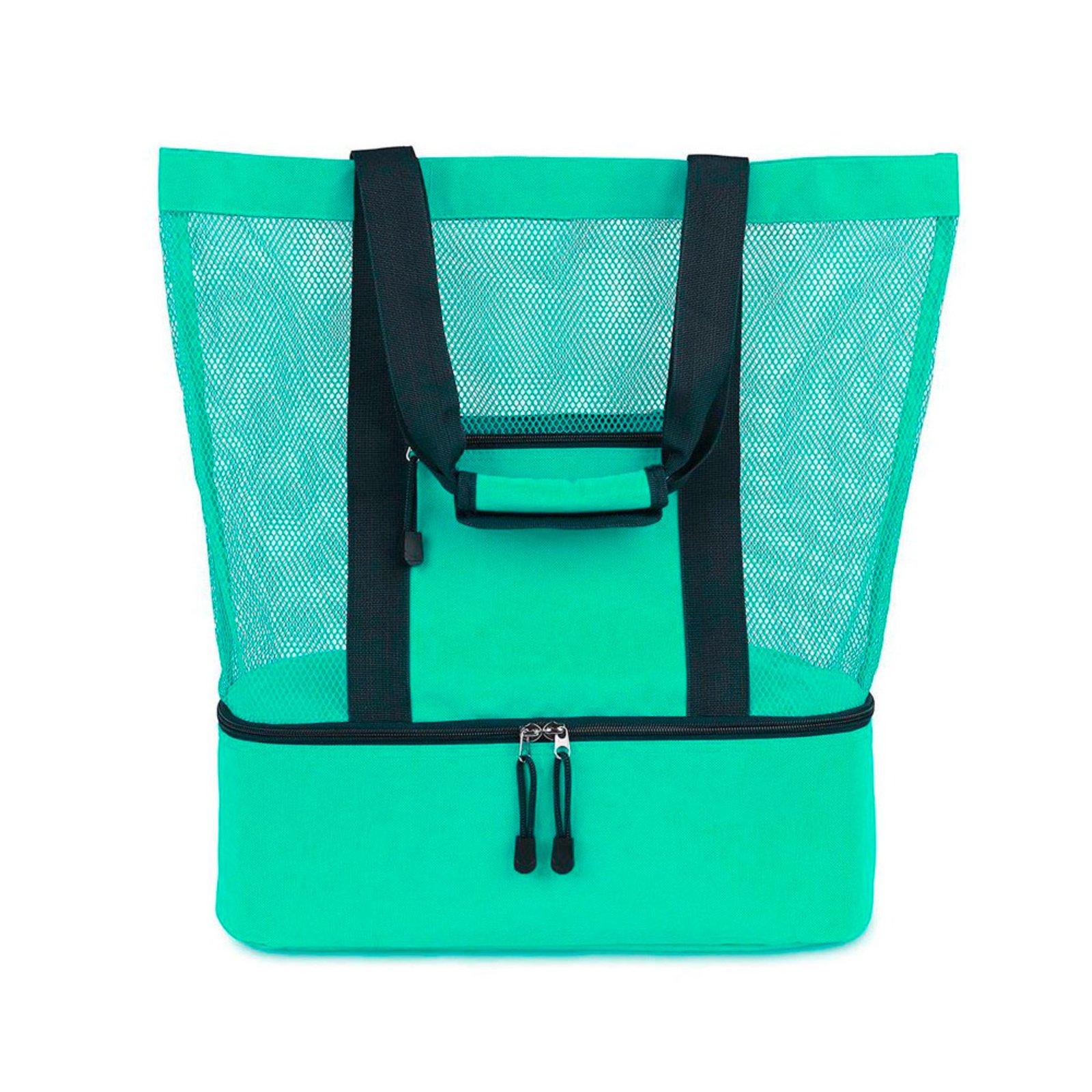 Bolsa Thata Esportes Mesh Compartimento Térmico para Praia Piscina Campo Piquenique Verde - Compre Agora
