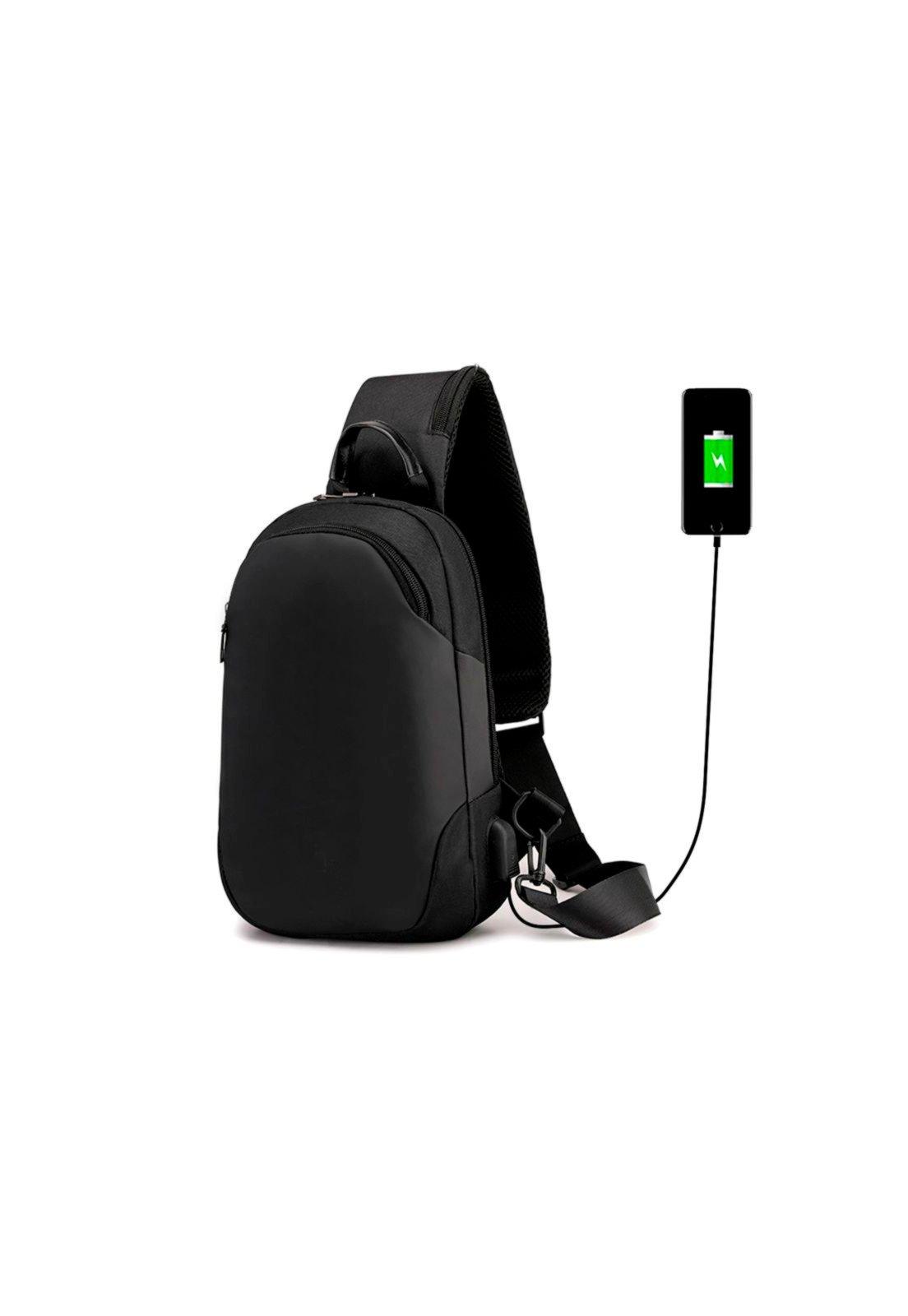 Mochila Bolsa Mala Anti Furto Cross Body USB Tablet Notebook Preta - Compre Agora