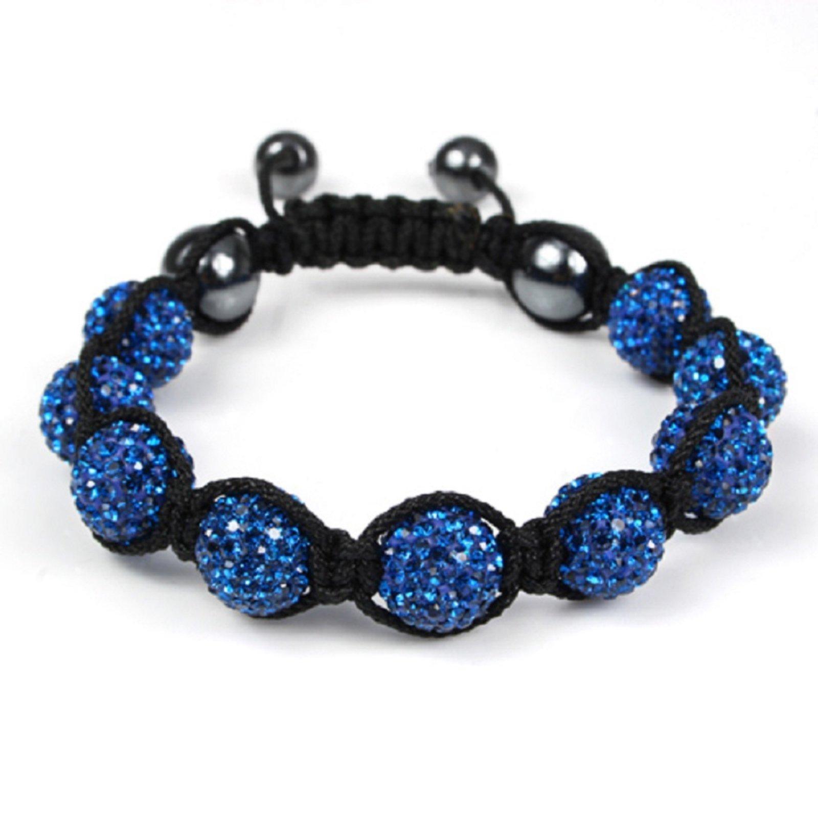 Pulseira Bracelete Tudo Jóias Shambala Cor Azul - Marca Tudo Jóias