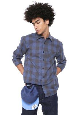 Menor preço em Camisa Volcom Reta Joneze Imp Azul