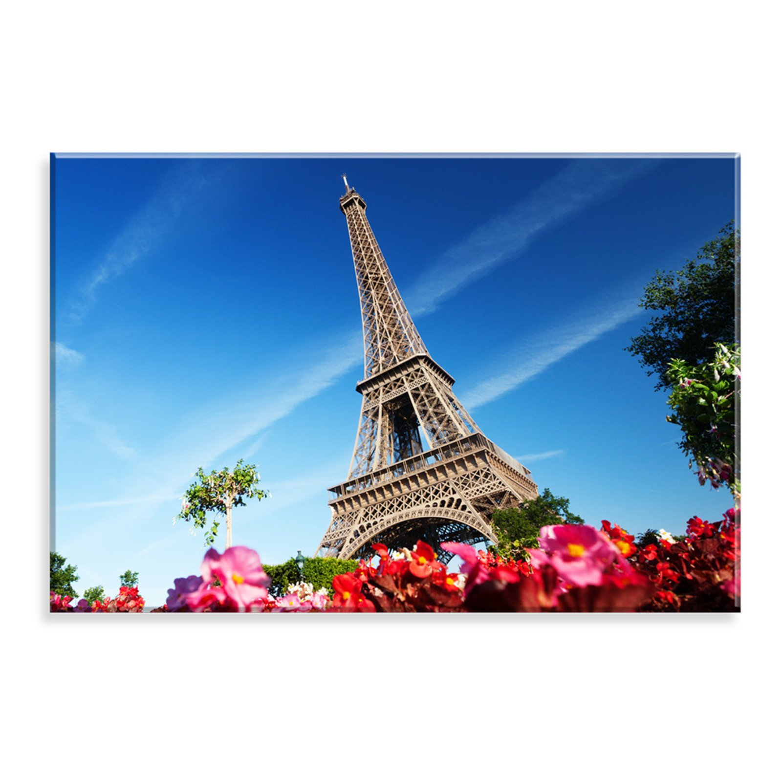 Tela Love Decor Decorativa Em Canvas Torre Eiffel Multicolorida