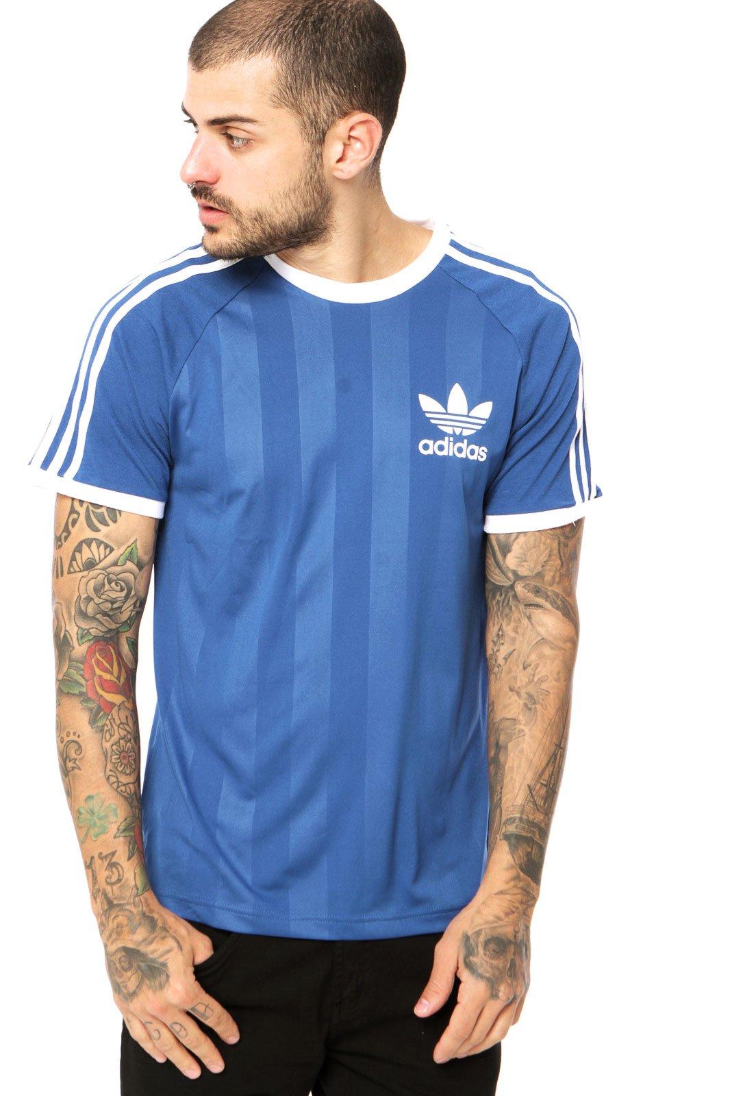 disfruta del precio de descuento original de costura caliente online aquí Camiseta Manga Curta adidas Originals California Azul - Compre ...