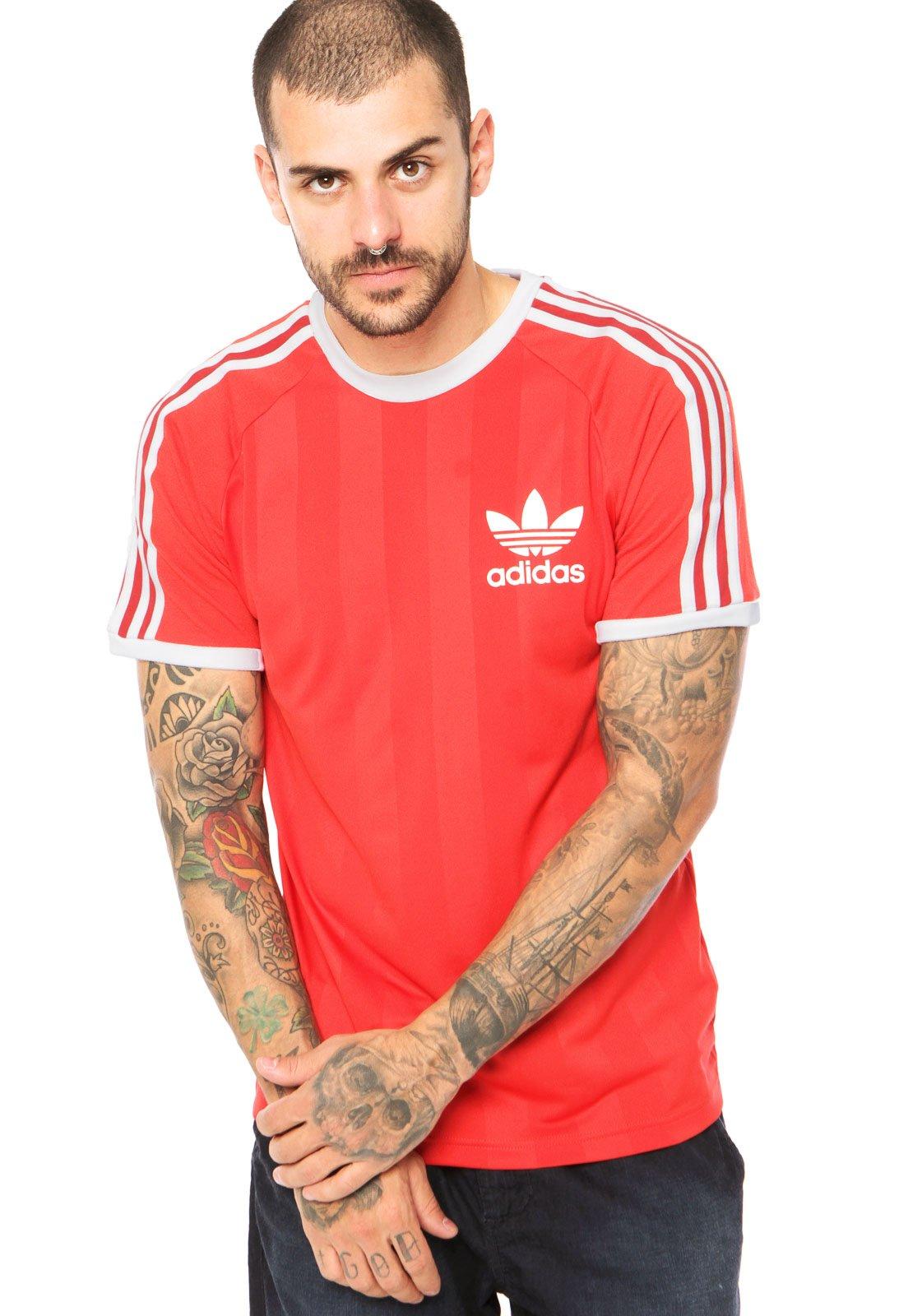 Desviación puesta de sol Antagonismo  Camiseta Manga Curta adidas Originals California Vermelha - Compre Agora |  Dafiti Brasil