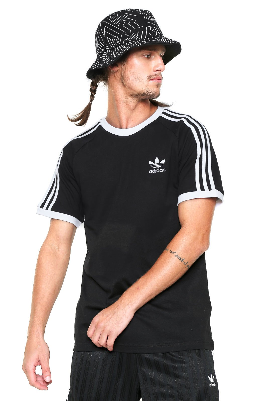 Camiseta adidas Originals 3 Stripes Preta