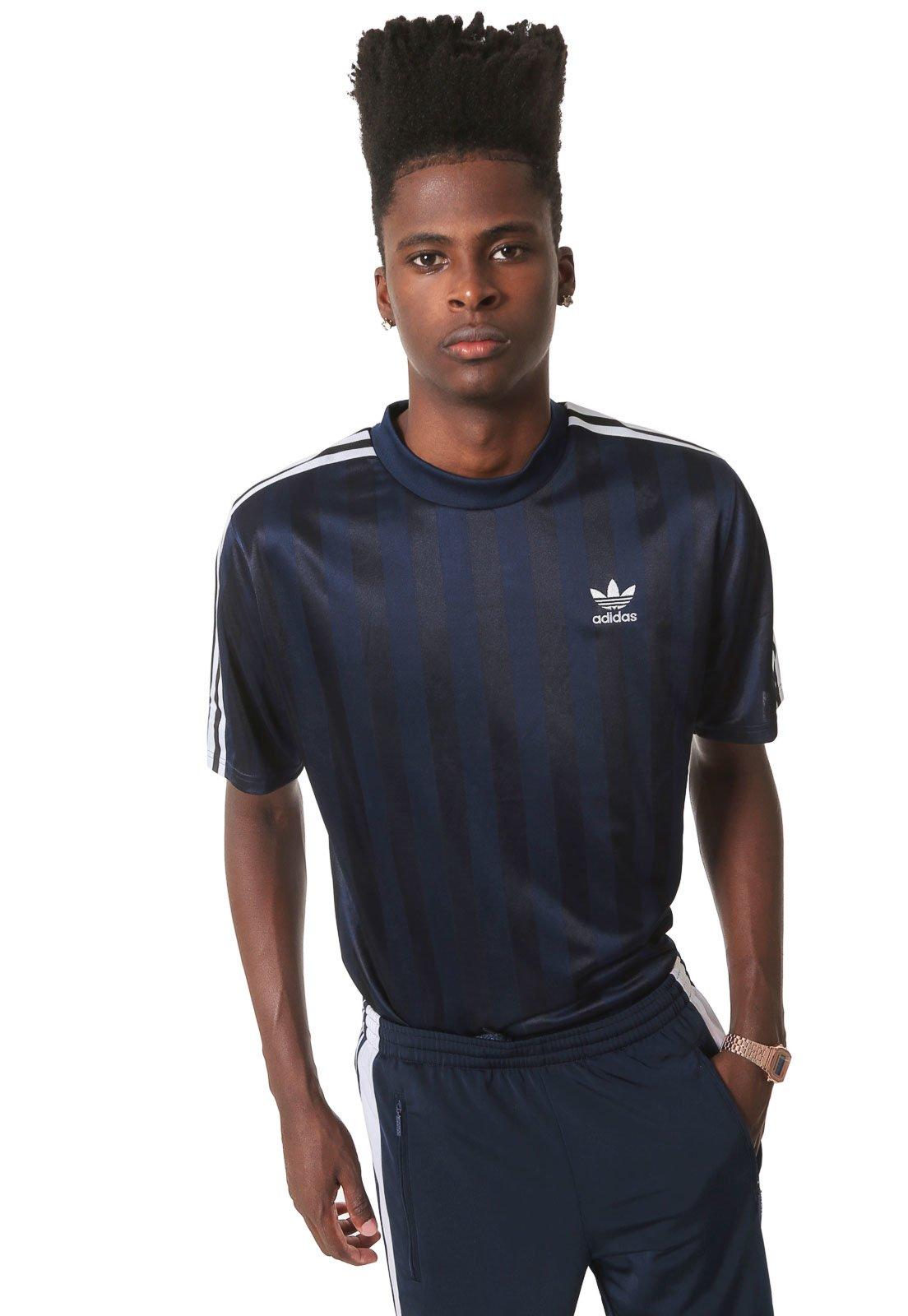 Hacia Hollywood Muscular  Camiseta adidas Originals B Side Jersey Azul-marinho - Compre Agora | Kanui  Brasil