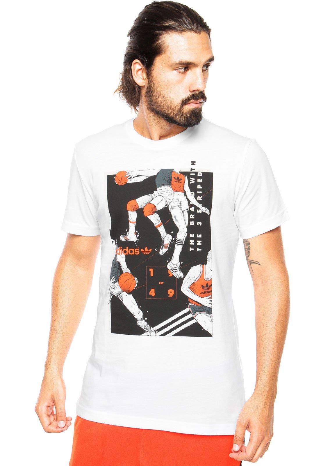 secuencia lento Corroer  Camiseta adidas Originals Tongue Basketball Branca - Compre Agora | Kanui  Brasil