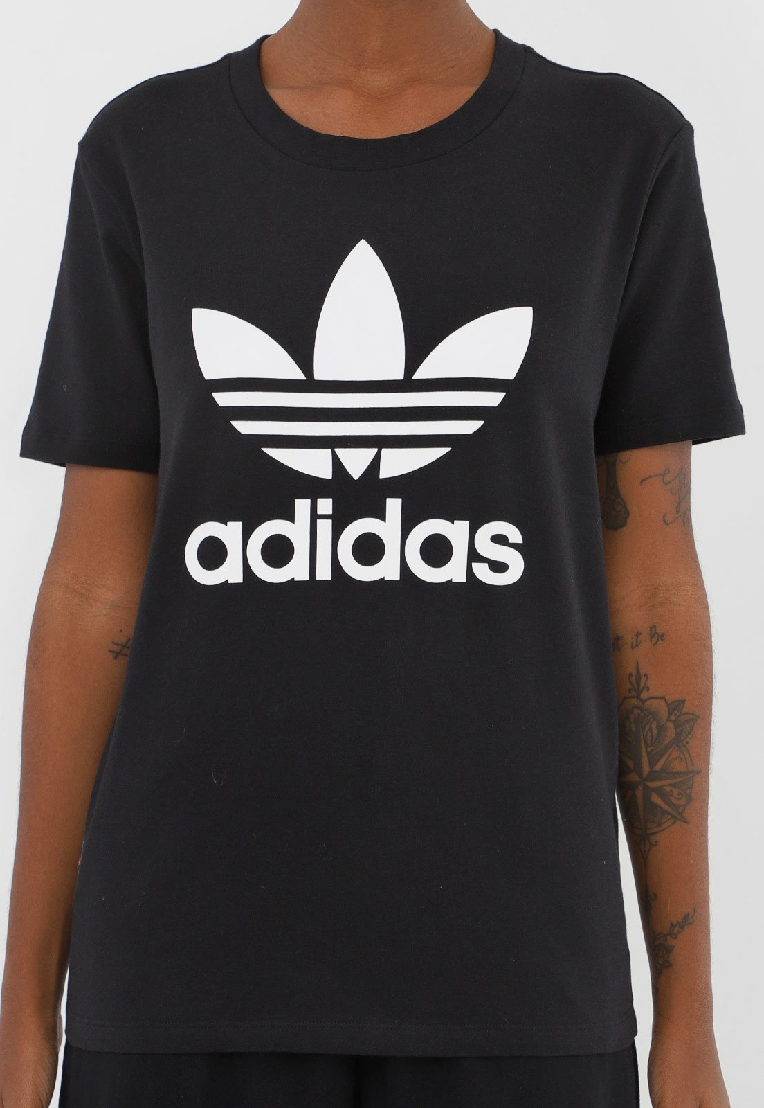 Camiseta adidas Originals Trefoil Preta - Marca adidas Originals