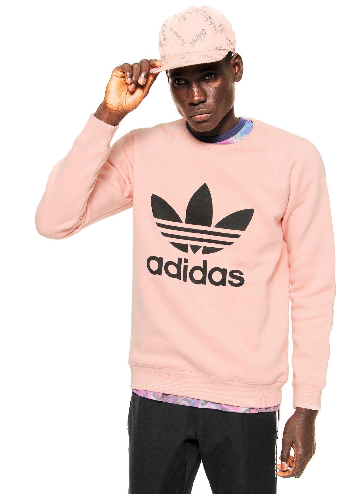 On Sale adidas Originals Trefoil Crew Sweatshirt Pink For