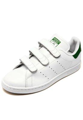 Menor preço em Tênis Couro adidas Originals Stan Smith CF Branco/Verde