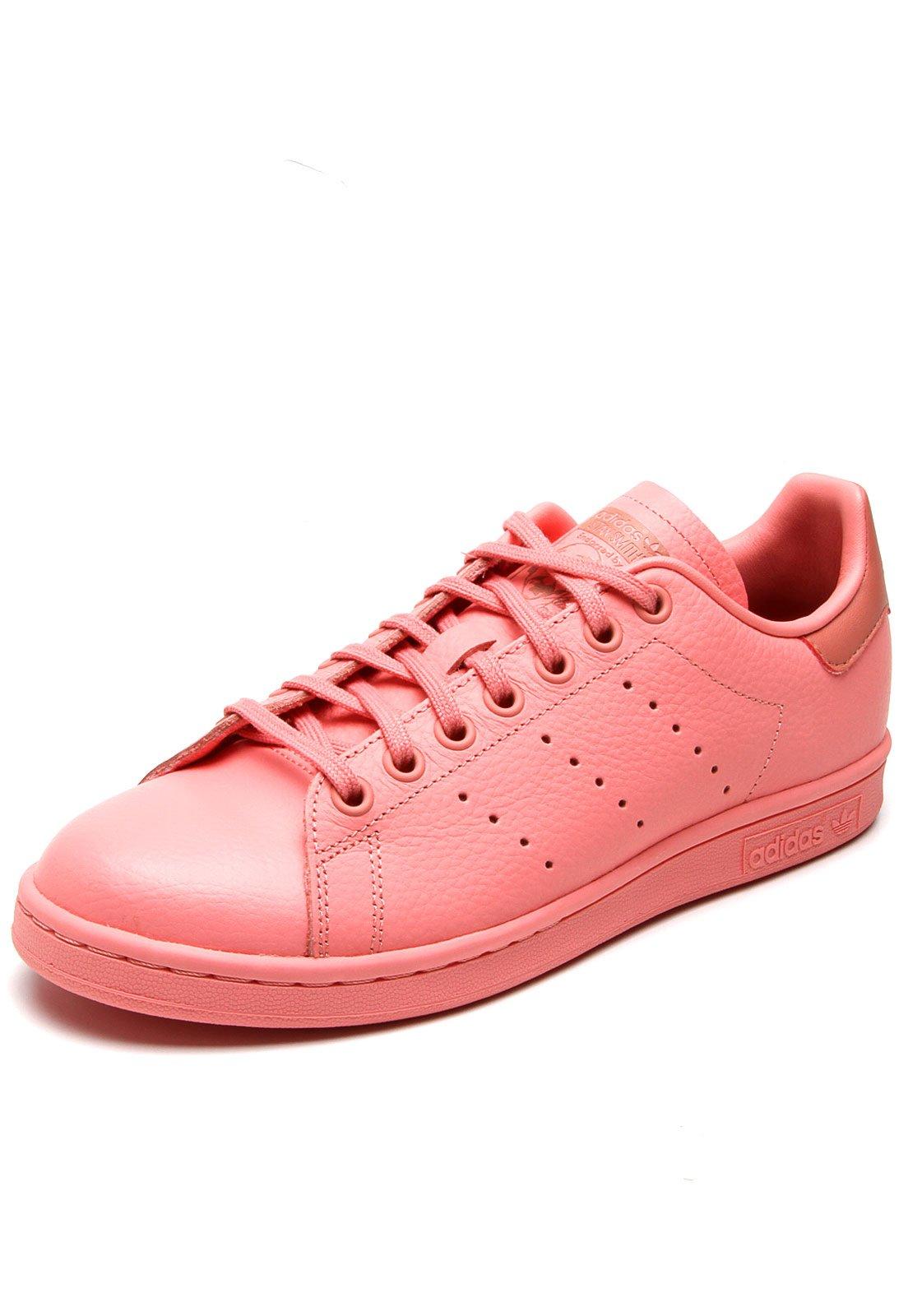 adidas stan smith feminino rosa