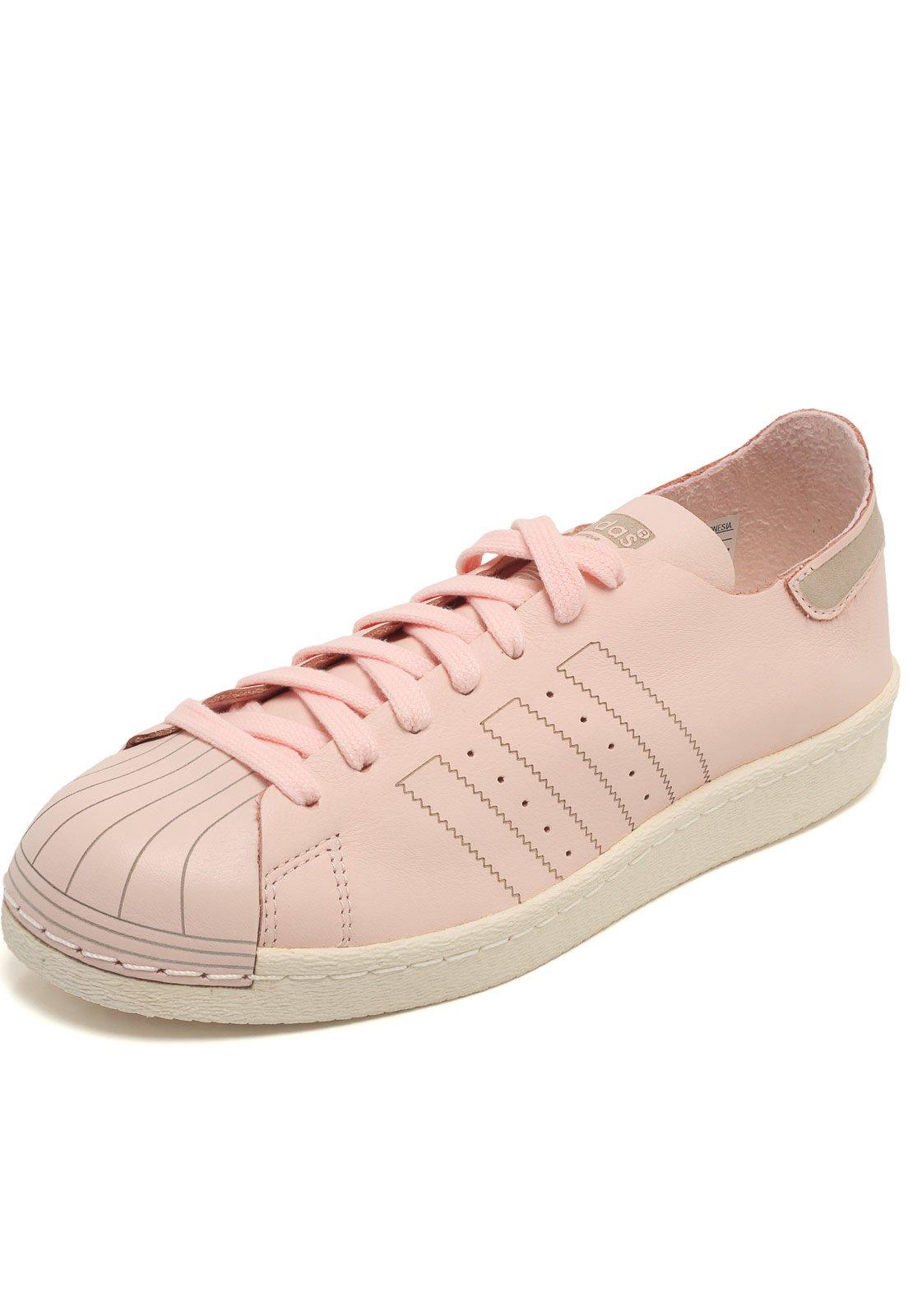 Tênis Couro adidas Originals Superstar W Rosa