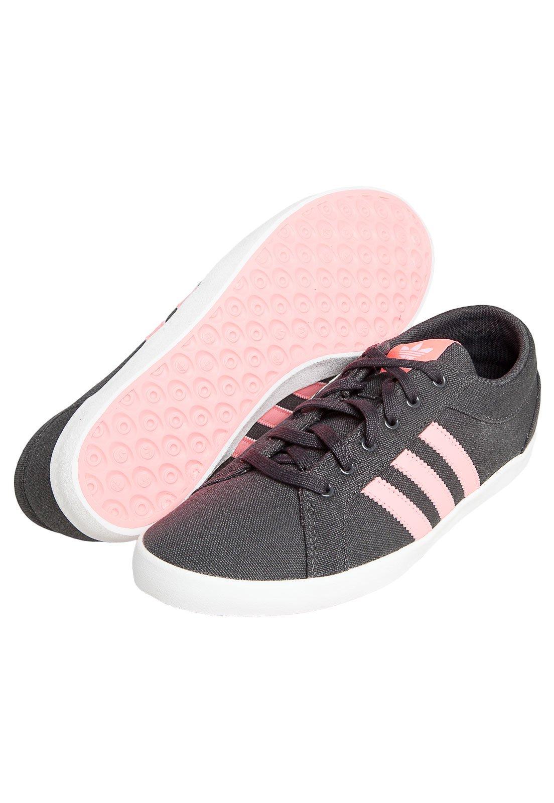 adidas feminino cinza com rosa
