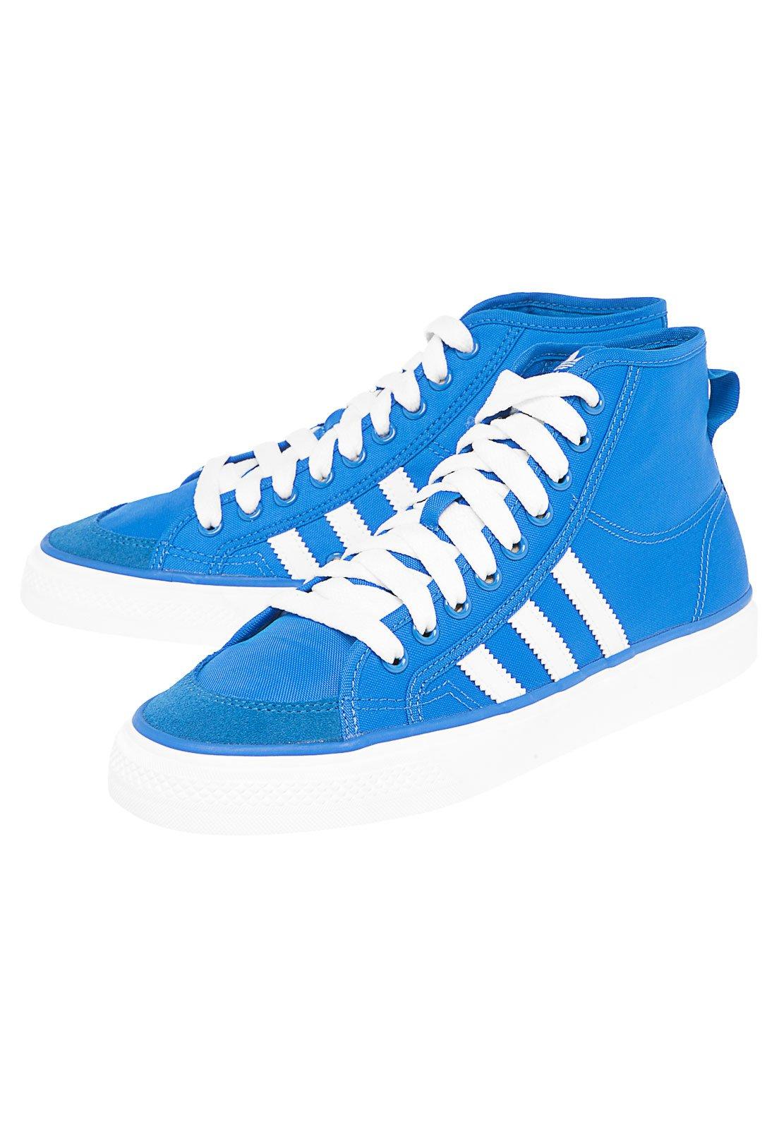 Aja Anotar Dispersión  Tênis adidas Originals Nizza Hi Azul - Compre Agora | Dafiti Brasil