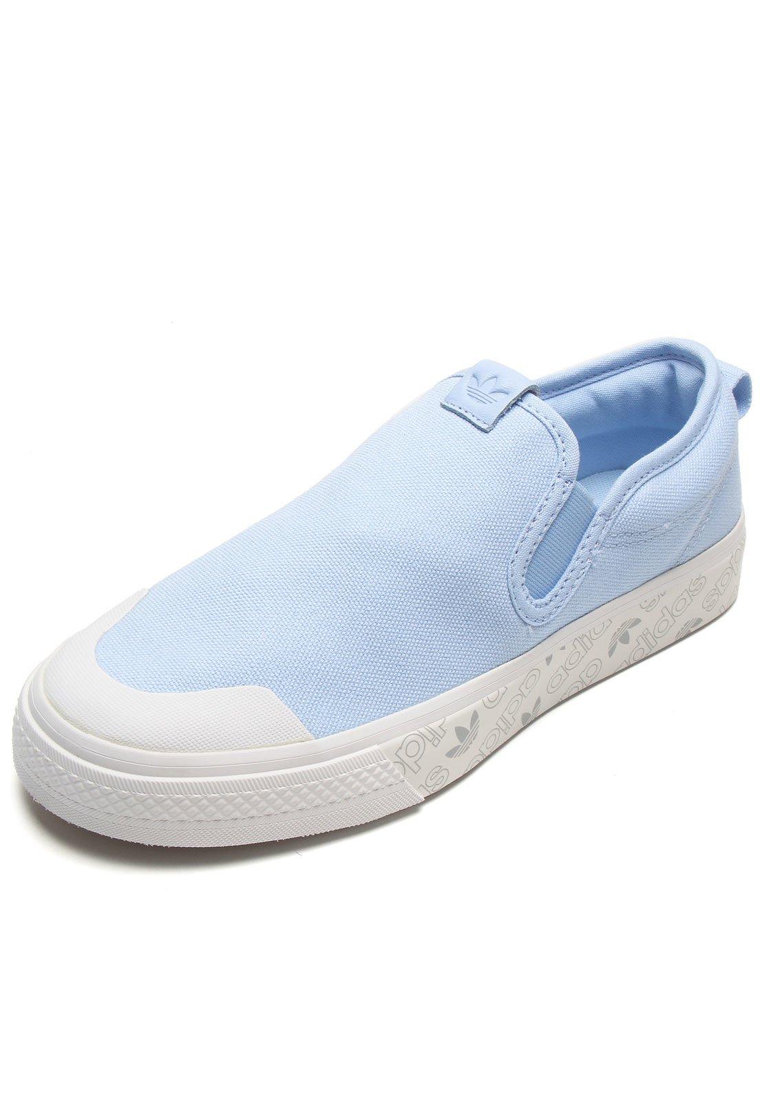 cómodo Dinámica Enriquecimiento  Tênis adidas Originals Nizza Slipon W Azul - Compre Agora | Dafiti Brasil
