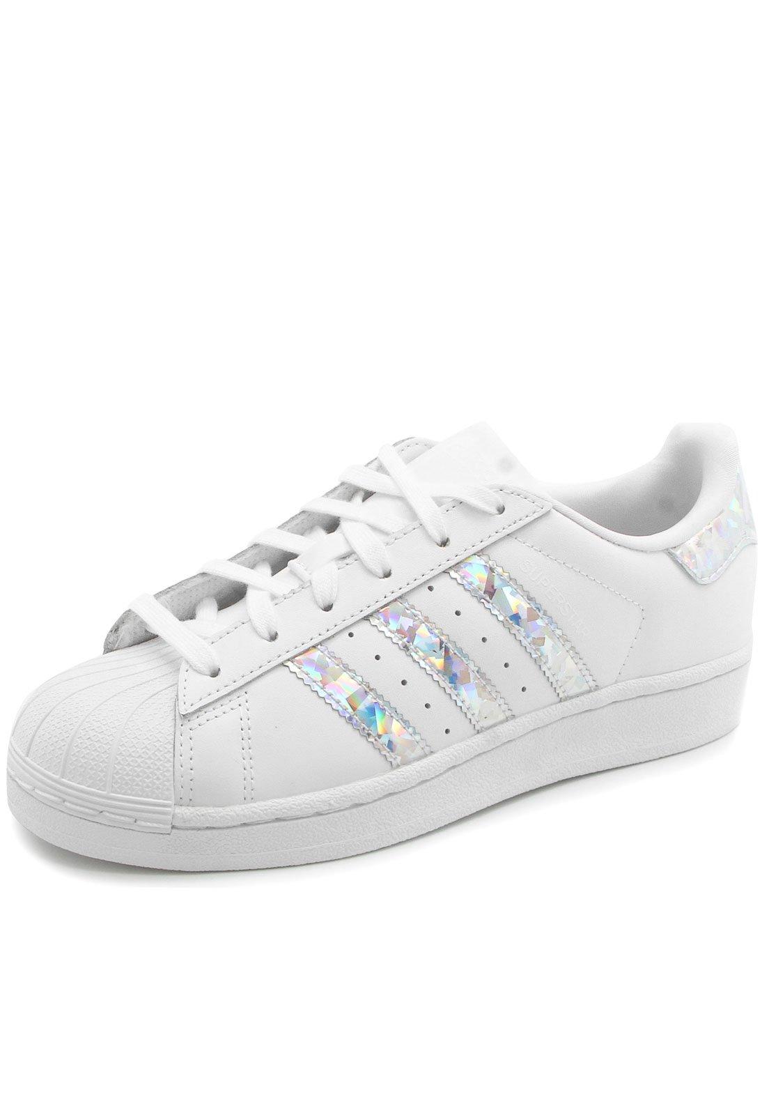 Tênis adidas Originals Superstar J Branco