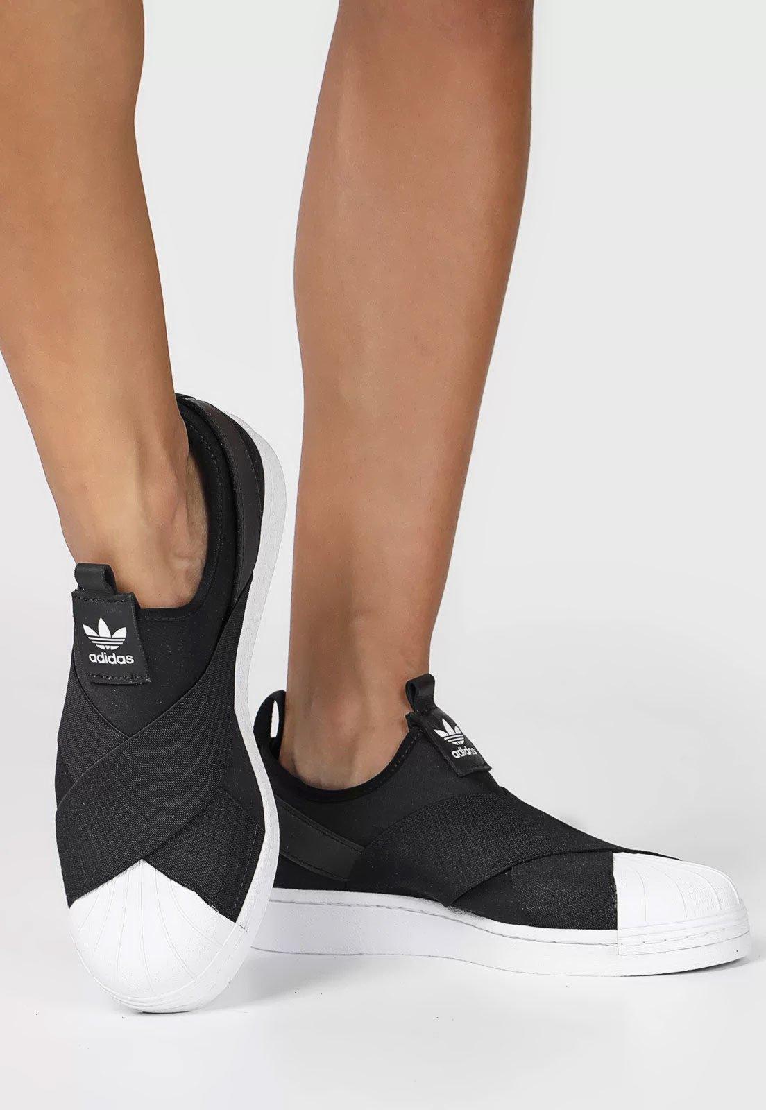 Tênis adidas Originals Superstar Slip on W Preto - Marca adidas Originals