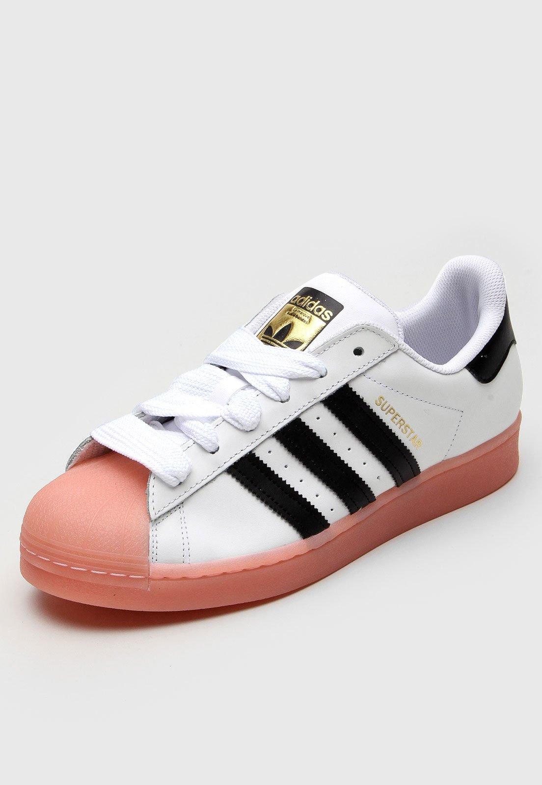 Tênis adidas Originals Superstar W Branco/Rosa - Marca adidas Originals