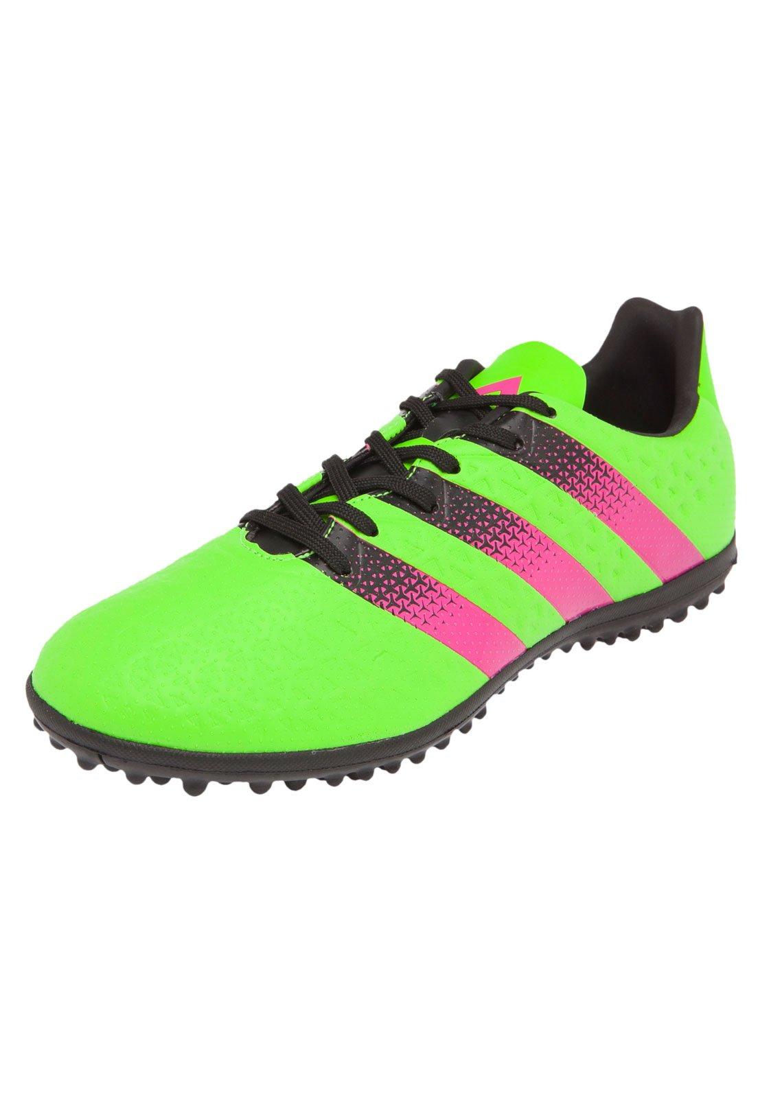chuteira adidas rosa e verde