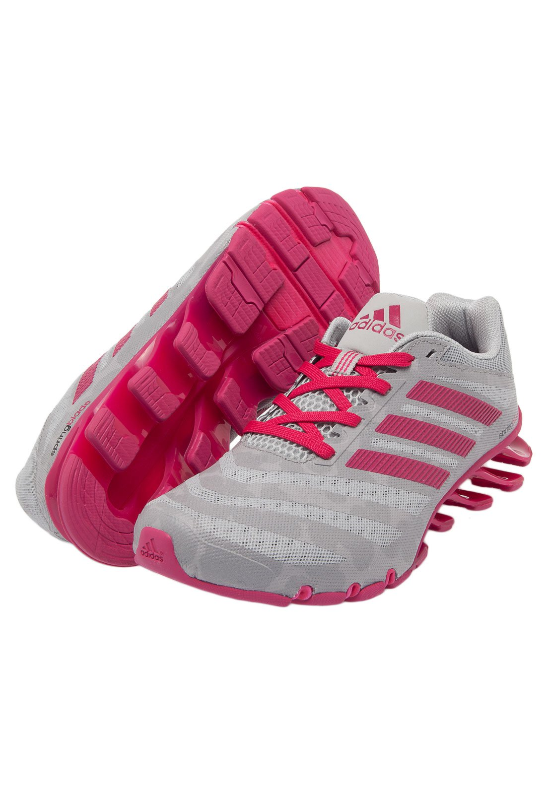 adidas springblade 4 cinza e rosa